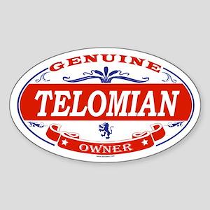 TELOMIAN Oval Sticker
