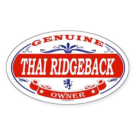 THAI RIDGEBACK Oval Sticker