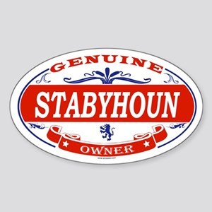 STABYHOUN Oval Sticker