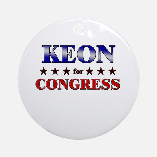 KEON for congress Ornament (Round)