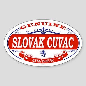 SLOVAK CUVAC Oval Sticker