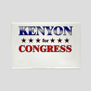 KENYON for congress Rectangle Magnet