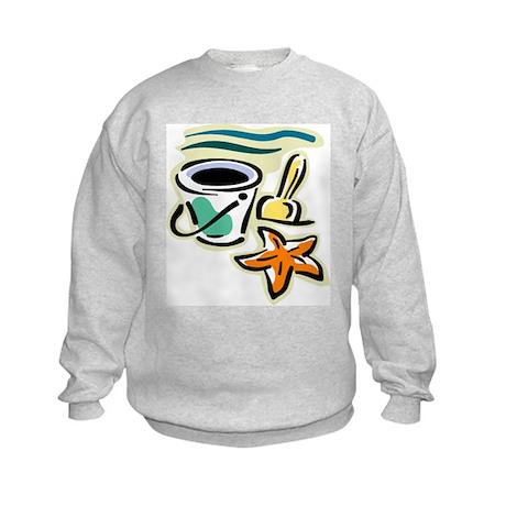 Beach Bucket Kids Sweatshirt
