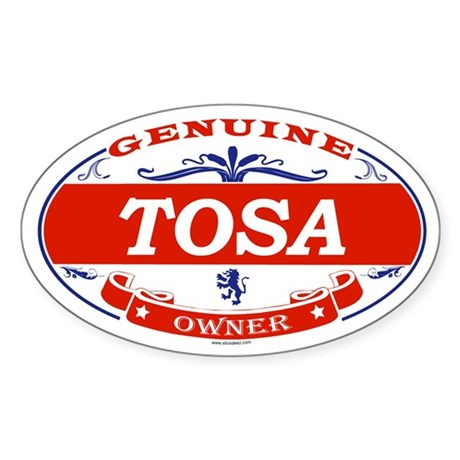 TOSA Oval Sticker