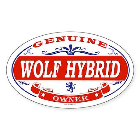 WOLF HYBRID Oval Sticker