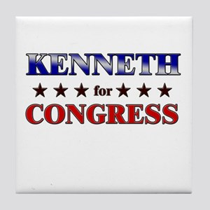 KENNETH for congress Tile Coaster