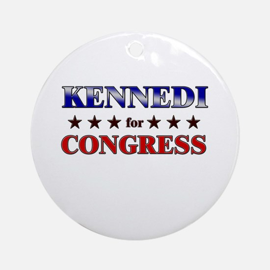 KENNEDI for congress Ornament (Round)