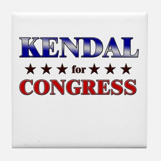 KENDAL for congress Tile Coaster
