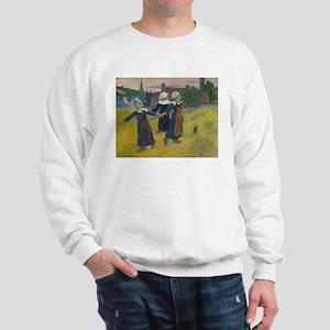 Breton Girls Dancing by Paul Gauguin Sweatshirt