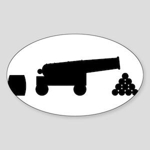 Cannon Silhouette Sticker