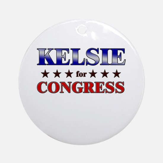 KELSIE for congress Ornament (Round)