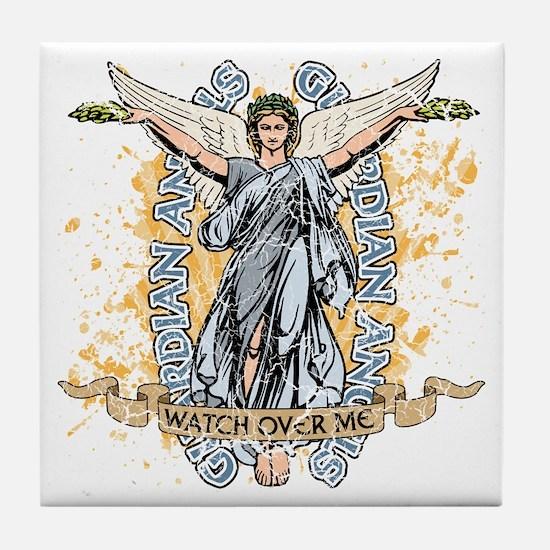Guardian Angels Tile Coaster
