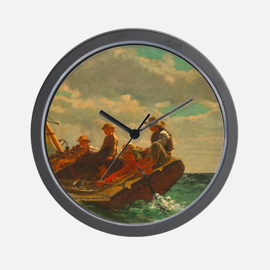Breezing Up by Winslow Homer Wall Clock