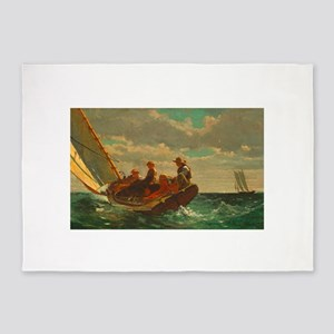 Breezing Up by Winslow Homer 5'x7'Area Rug