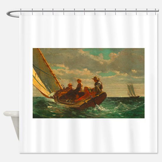 Breezing Up by Winslow Homer Shower Curtain
