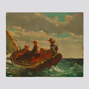 Breezing Up by Winslow Homer Throw Blanket