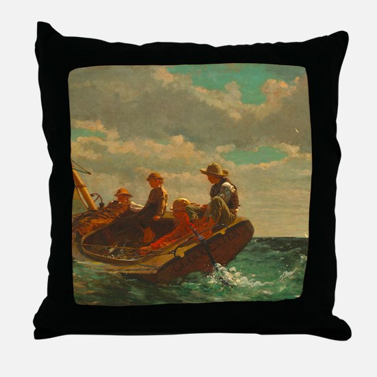Breezing Up by Winslow Homer Throw Pillow