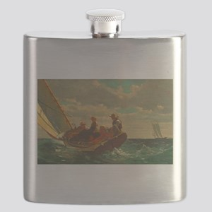 Breezing Up by Winslow Homer Flask
