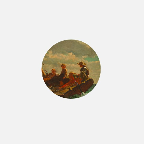 Breezing Up by Winslow Homer Mini Button