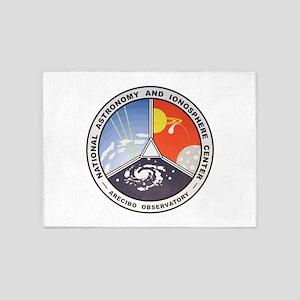 Natl. Astronomy Ctr Logo 5'x7'Area Rug