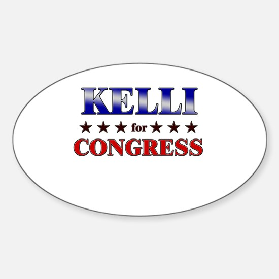 KELLI for congress Oval Decal