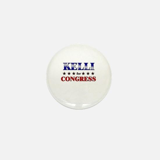 KELLI for congress Mini Button
