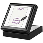 Incomplete Manuscript Keepsake Box