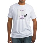 Incomplete Manuscript Fitted T-Shirt