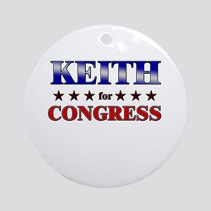 KEITH for congress Ornament (Round)