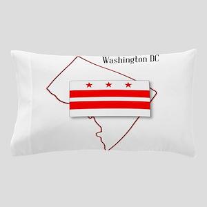 Washington DC Map and Flag Pillow Case