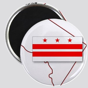 Washington DC Map and Flag Magnets