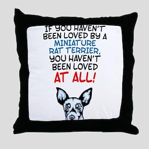Miniature Rat Terrier Throw Pillow