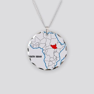South Sudan Necklace Circle Charm