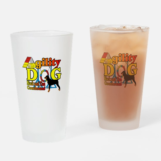 Coonhound Agility Drinking Glass