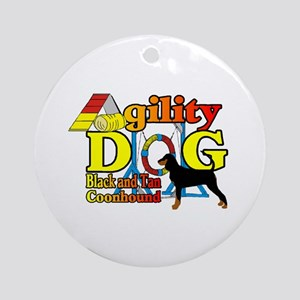 Coonhound Agility Round Ornament