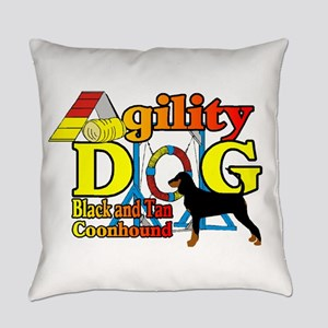 Coonhound Agility Everyday Pillow