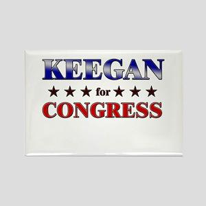 KEEGAN for congress Rectangle Magnet