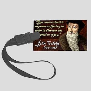 John Calvin Large Luggage Tag