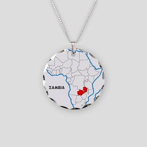 Zambia Necklace Circle Charm