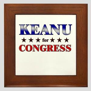 KEANU for congress Framed Tile