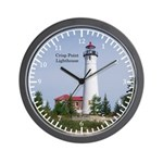 Crisp Point Lighthouse Wall Clock