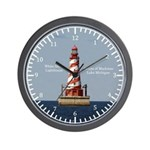 White Shoal Lighthouse Wall Clock