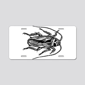 Cockroach Top View Aluminum License Plate