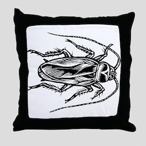 Cockroach Top View Throw Pillow