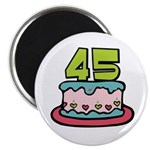45th Birthday Cake Magnet