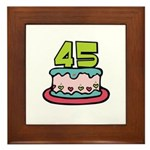 45th Birthday Cake Framed Tile