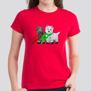 Scottie Westie Winter Women's Dark T-Shirt