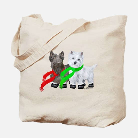 Scottie Westie Winter Tote Bag
