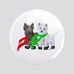 Scottie Westie Winter Button