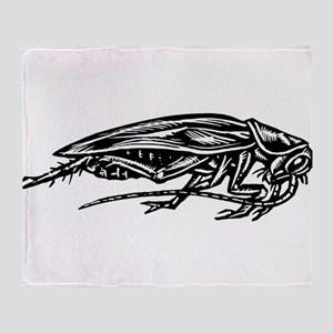 Cockroach Side View Throw Blanket